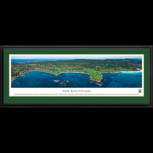 Pebble Beach Golf Links Golf Course Deluxe Framed Panoramic