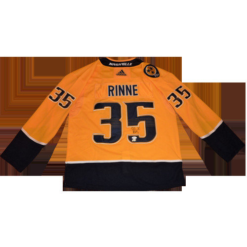 1d45a241bd8d Pekka Rinne Autographed Signed Auto Nashville Predators Yellow  35 Adidas  Jersey   JSA - Certified