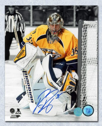 separation shoes a7cee 98848 Pekka Rinne Nashville Predators Autographed Signed Goalie ...