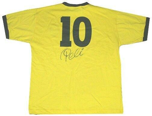aa278ede452 Pele Autographed Signed Brazil Soccer Jersey Shirt #10 Cbd Autograph  Authentic Psa/Dna Authentic