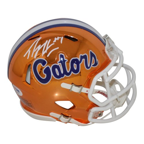 Percy Harvin Florida Gators Autographed Signed Riddell Speed Chrome Mini Helmet - PSA/DNA Authentic