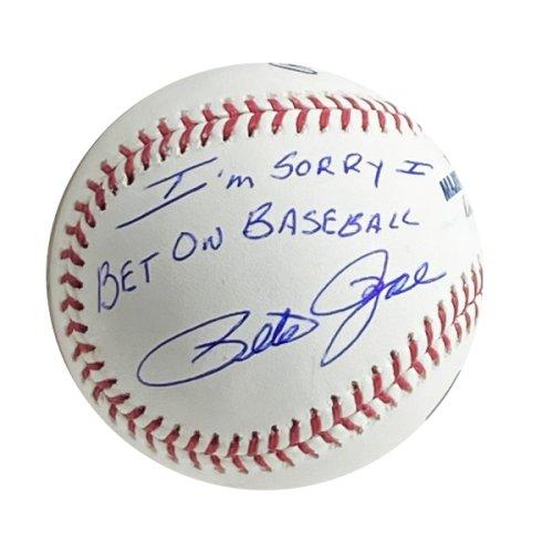 Pete Rose Autographed Signed Rawlings Major League Baseball I'm Sorry I Bet on Baseball - PSA/DNA Authentic