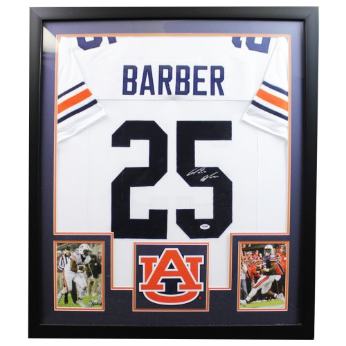 Peyton Barber White Auburn Tigers Autographed Signed Framed Jersey - PSA/DNA Authentic