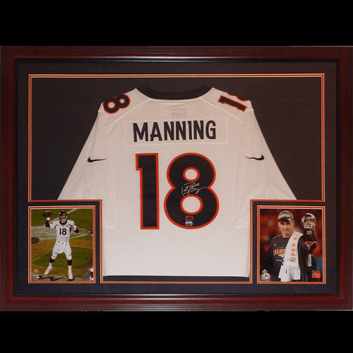 Peyton Manning Autographed Signed Auto Denver Broncos Nike White  18 Deluxe  Framed Jersey   Peyton 8b32d3b79