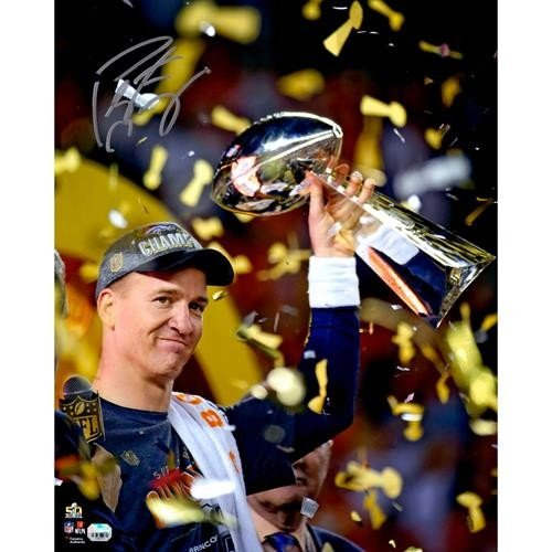 Peyton Manning Autographed Signed Auto Denver Broncos Super Bowl Trophy  8x10 Photograph   JSA - Certified Authentic 1b9953794