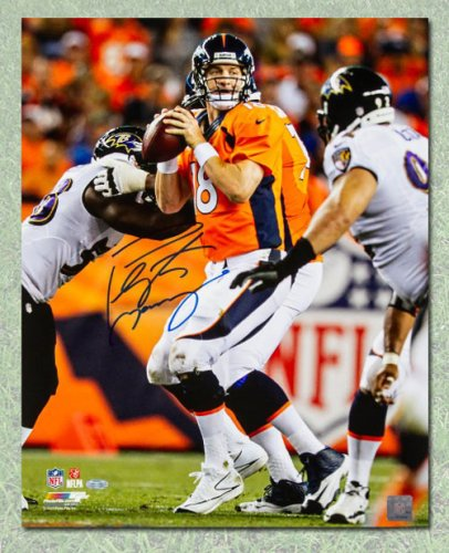 Peyton Manning Denver Broncos Autographed Signed Football Game Action 8x10  Photo - Certified Authentic f56a67993