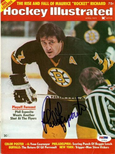 Phil Esposito Autographed Signed Magazine Cover Bruins - PSA/DNA Certified