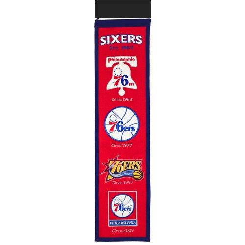 Philadelphia 76ers Logo Evolution Heritage Banner