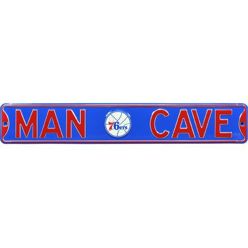 Philadelphia 76ers MAN CAVE Authentic Street Sign