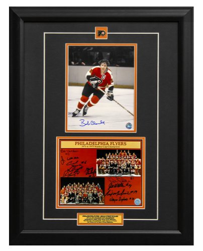 Philadelphia Flyers Stanley Cup Champions 10 Player Autographed Signed 23x27 Collage Frame