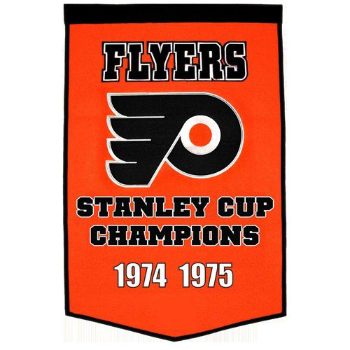 Philadelphia Flyers Stanley Cup Championship Dynasty Banner - with hanging rod