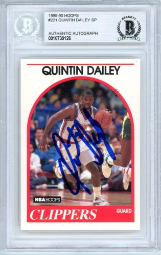 Quintin Dailey Autographed Signed 1989-90 Hoops Card Autographed Signed #221 Los Angeles Clippers - Beckett Authentic