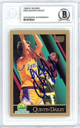 78632b640a678 Autographed Signed Shawn Kemp Autographed Signed 1990 Skybox Rookie ...
