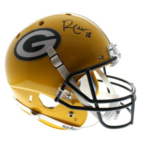 b30090ebf5e Randall Cobb Green Bay Packers Autographed Signed Custom Full Size Schutt  Helmet - JSA Authentic