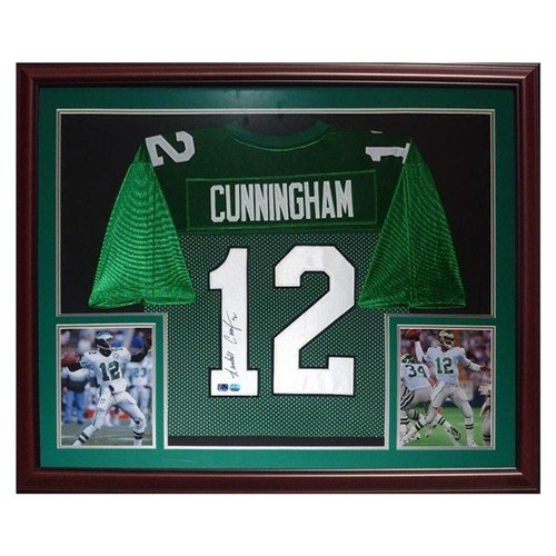 Randall Cunningham Autographed Signed Philadelphia Eagles (Green #12) Deluxe Framed Jersey