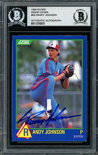 Randy Johnson Autographed Signed 1989 Fleer Rookie Card