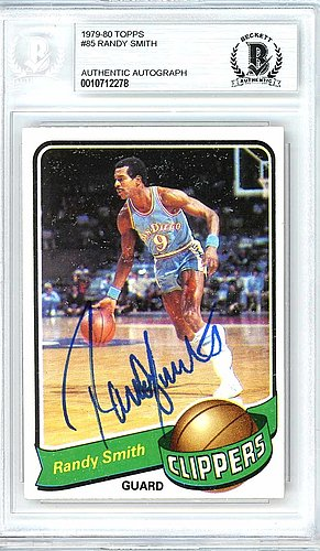Randy Smith Autographed Signed 1979-80 Topps Card Autographed Signed #85 San Diego Clippers - Beckett Authentic