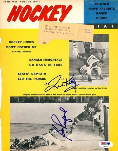 Red Kelly and Bobby Pulford Autographed Signed Magazine Cover Maple Leafs - PSA/DNA Certified