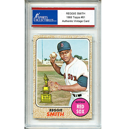 Reggie Smith Unsigned 1968 Topps Authentic Vintage Card