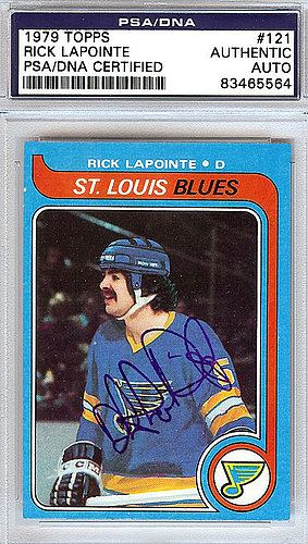 Rick Lapointe Autographed Signed 1979 Topps Card #121 - PSA/DNA Certified
