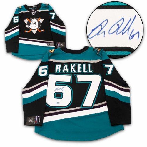 0b7dacd6d88 Rickard Rakell Anaheim Ducks Autographed Signed Mighty Ducks Fanatics Hockey  Jersey