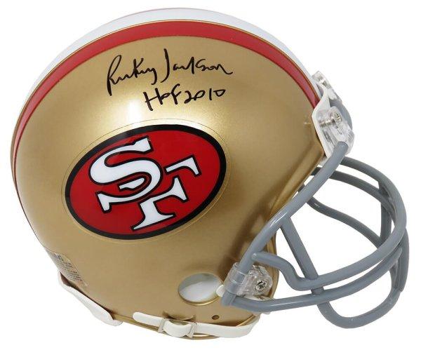 Rickey Jackson Autographed Signed 49ers Riddell Mini Helmet w/HOF 2010