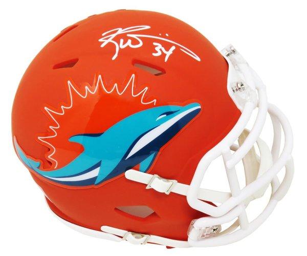 Ricky Williams Autographed Signed Miami Dolphins AMP Alternate Series Riddell Speed Mini Helmet