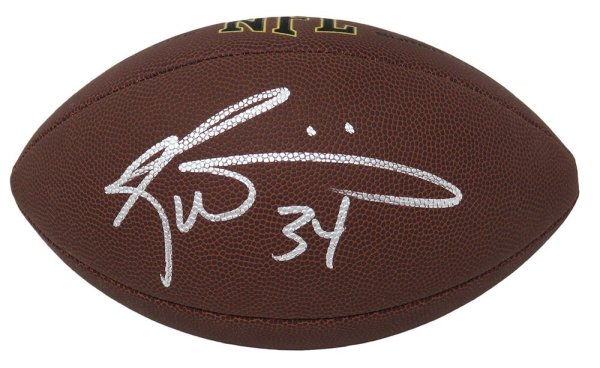 Ricky Williams Autographed Signed Wilson Super Grip Full Size NFL Football