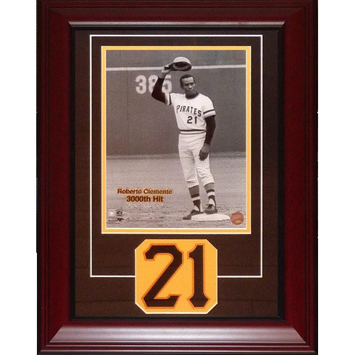 Roberto Clemente Pittsburgh Pirates Deluxe Framed 11X14 Photo Frame with Commemorative Patch