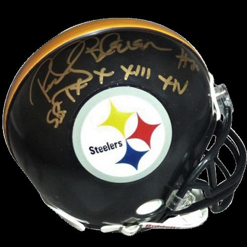 cca4db032 Rocky Bleier Autographed Signed Auto Pittsburgh Steelers Mini Helmet SB  Inscrip - Certified Authentic