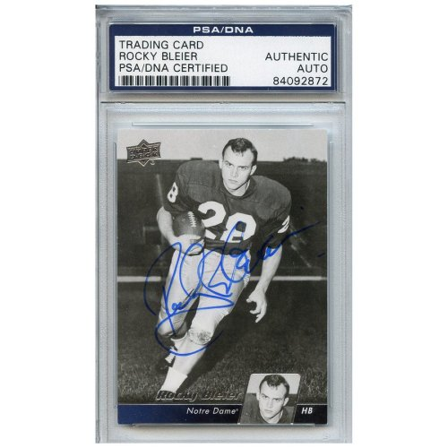 49fd590e53e Rocky Bleier Autographed Signed Football Trading Card Notre Dame Fighting  Irish PSA DNA