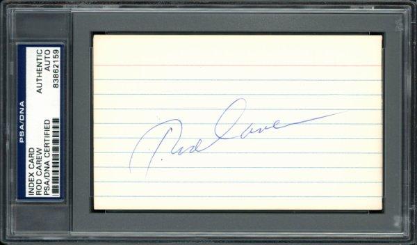Rod Carew Autographed Signed 3x5 Index Card Minnesota Twins, California Angels Vintage Signature PSA/DNA #83862159