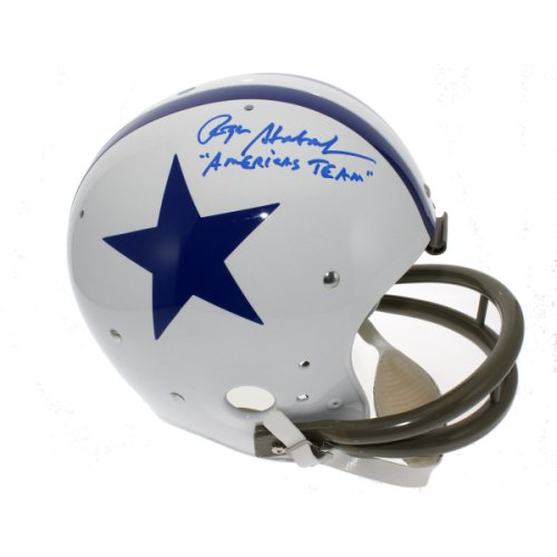 218aa6b8f10 Roger Staubach Autographed Signed Dallas Cowboys Replica TK Suspension  Helmet - America's Team - JSA Certified