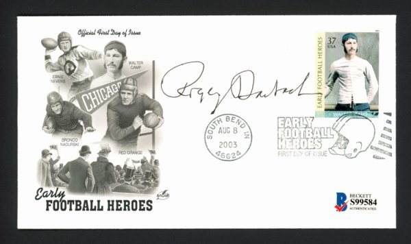 Roger Staubach Autographed Signed First Day Cover Dallas Cowboys Beckett BAS #S99584