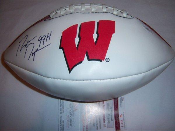 Ron Dayne Autographed Signed Wisconsin Badgers,Heisman 99 JSA/COA Football