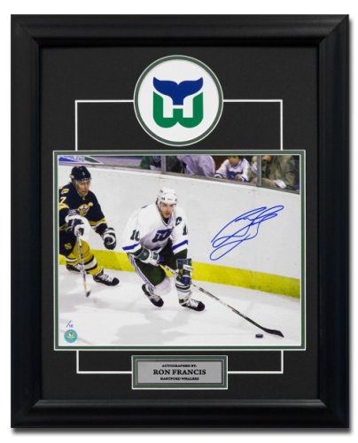 Ron Francis Hartford Whalers Autographed Signed Hockey 19X23 Frame Le 10 -  Certified Authentic 5674316b1