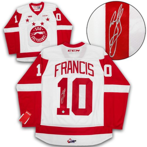 Ron Francis Sault Ste. Greyhounds Autographed Signed Chl Ccm Premier Hockey  Jersey - Certified Authentic 372f76d33