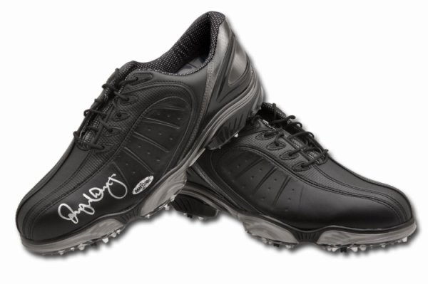 Rory Mcilroy Autographed Signed Autographed Golf Shoes Spikes Black Foot Joy UDA