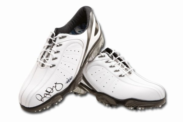 Rory Mcilroy Autographed Signed Autographed Golf Shoes Spikes White Foot Joy UDA