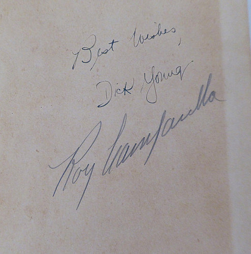 Roy Campanella Autographed Signed Book Los Angeles Dodgers Pre Accident - Beckett BAS Authentic