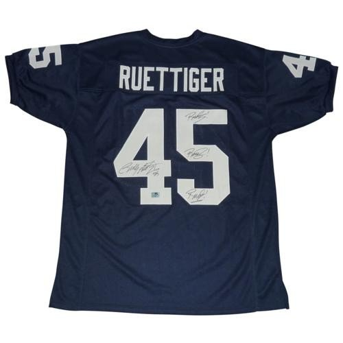 Rudy Ruettiger Autographed Signed Auto Notre Dame Fighting Irish Blue  45 Custom  Jersey Rudy! bc01bcec0