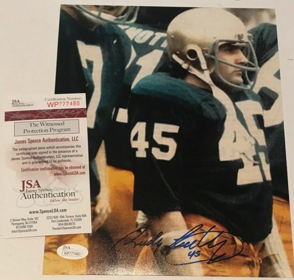 37ee8a30df0 Rudy Ruettiger Autographed Signed Notre Dame 8x10 Photo - JSA Authentic