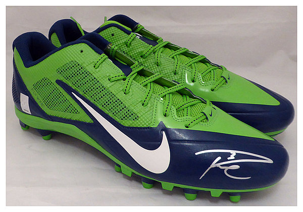 0e3dc076 Russell Wilson Autographed Signed Nike Cleats Shoes Seattle Seahawks RW Holo  Stock #130470 - Certified