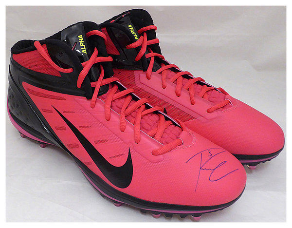 Russell Wilson Autographed Signed Pink Nike Cleats Shoes Seattle Seahawks RW Holo #42197 - Certified Authentic