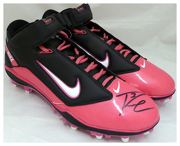 Russell Wilson Autographed Signed Pink Nike Cleats Shoes Seattle Seahawks RW Holo Stock #130718 - Certified Authentic