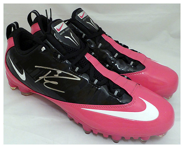 fef26fdf Russell Wilson Autographed Signed Pink Nike Cleats Shoes Seattle Seahawks  RW Holo Stock #130719 -