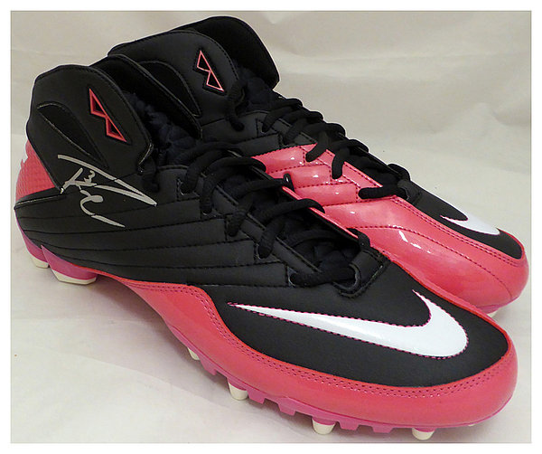 3fef5c7f Russell Wilson Autographed Signed Pink Nike Cleats Shoes Seattle Seahawks  RW Holo Stock #130720 -