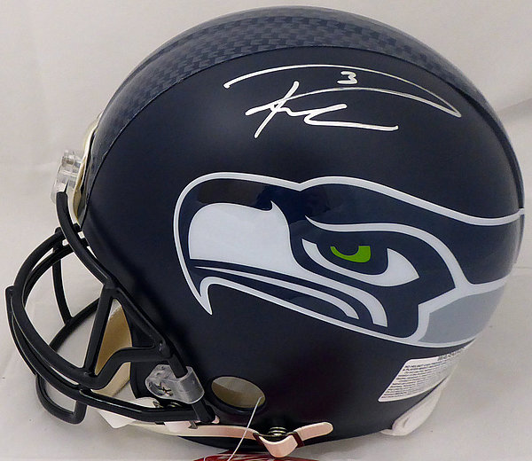 9f27663ac36 Russell Wilson Autographed Signed Seattle Seahawks Full Size Authentic  Proline Helmet (Signed Twice) RW