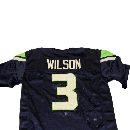 7f9ba6194 Russell Wilson Seattle Seahawks Unsigned Custom Football Jersey - Size XL