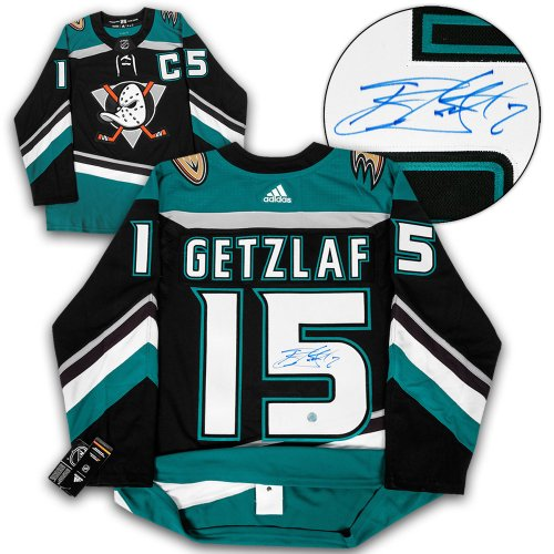 748f9c387f5 Ryan Getzlaf Anaheim Ducks Autographed Signed Mighty Ducks Adidas Authentic  Jersey